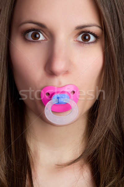 Pacifier Woman Stock photo © keeweeboy