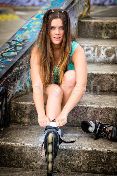 Inline Skates Girl Stock photo © keeweeboy