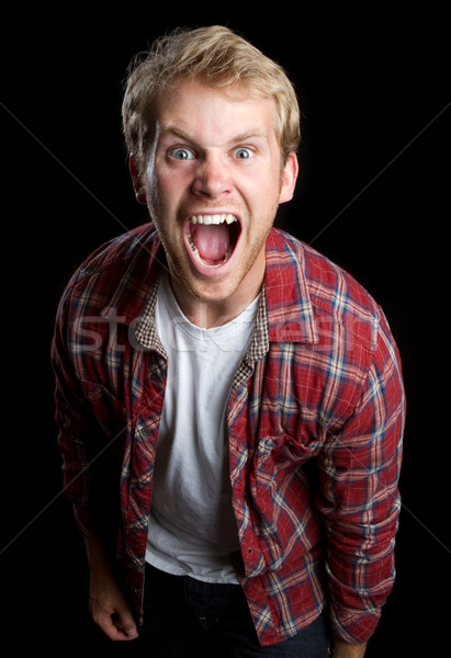 Angry Man Yelling Stock photo © keeweeboy