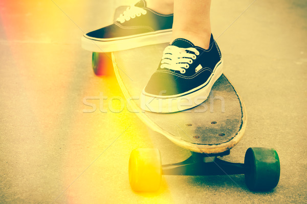 Skateboarding with Light Leaks Stock photo © keeweeboy