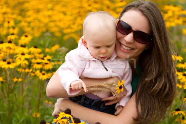 Madre figlia bella sorridere donna Foto d'archivio © keeweeboy