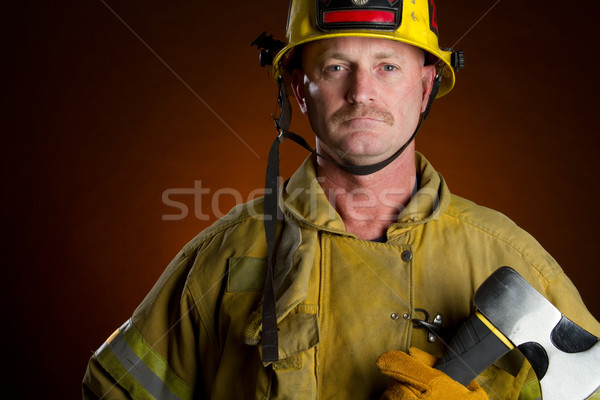 Firefighter Man Stock photo © keeweeboy