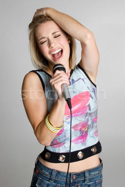 Karaoke Girl Singing Stock photo © keeweeboy