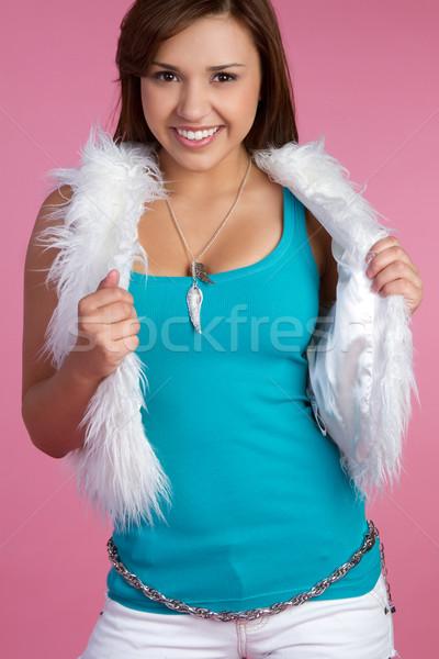 Сток-фото: улыбаясь · подростка · девушка · довольно · женщину · моде · модель