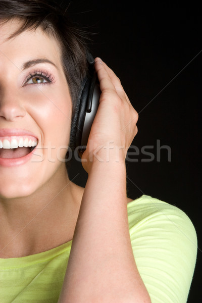 Headphones Girl Stock photo © keeweeboy