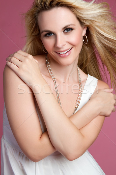 Bella donna sorridere moda mani Foto d'archivio © keeweeboy