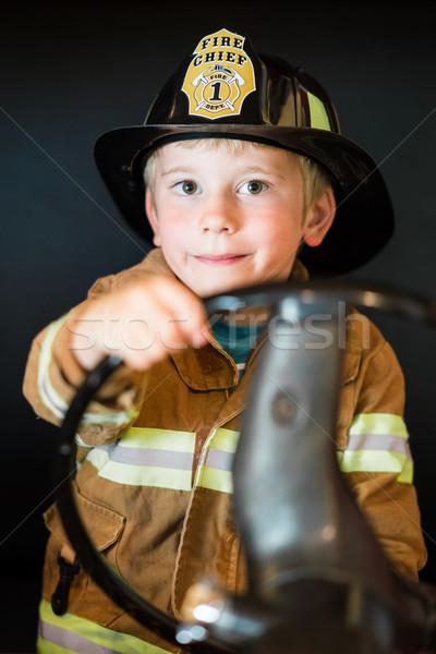 Little Boy Firefighter Stock photo © keeweeboy