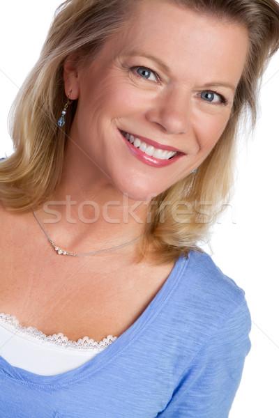 Bella sorridere ragazza moda Foto d'archivio © keeweeboy