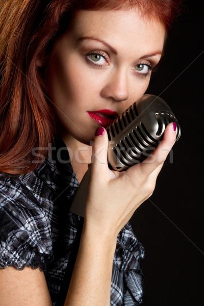 Vintage Microphone Singer Stock photo © keeweeboy