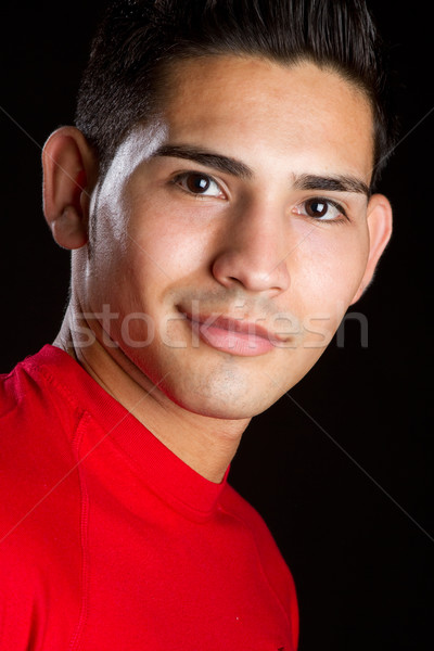 Sorridere uomo ispanico ritratto faccia sfondo Foto d'archivio © keeweeboy