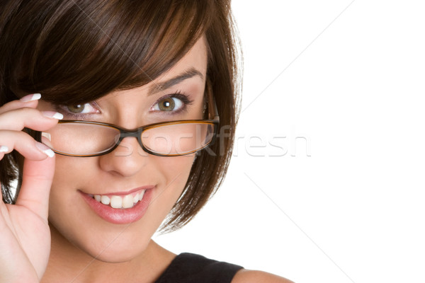 Girl Wearing Glasses Stock photo © keeweeboy