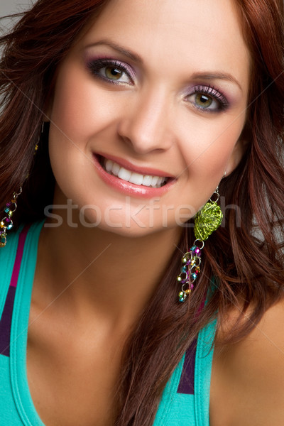 Smiling Headshot Woman Stock photo © keeweeboy
