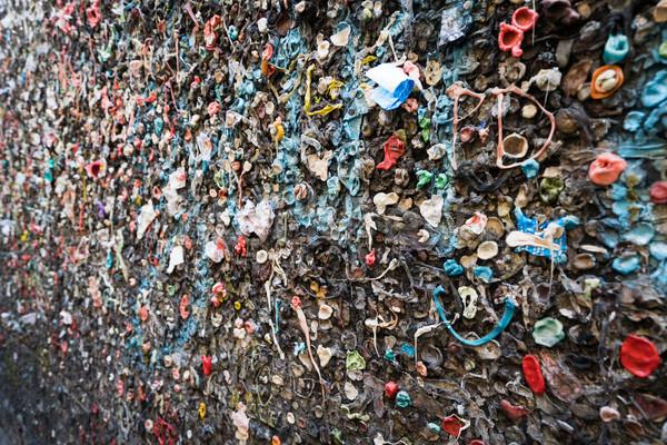 Kabarcık sakız duvar geçit doku Stok fotoğraf © keeweeboy