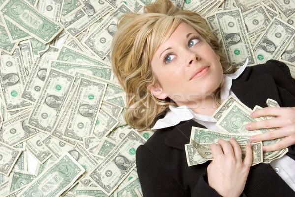 Para kadın güzel bir kadın iş gözler Stok fotoğraf © keeweeboy