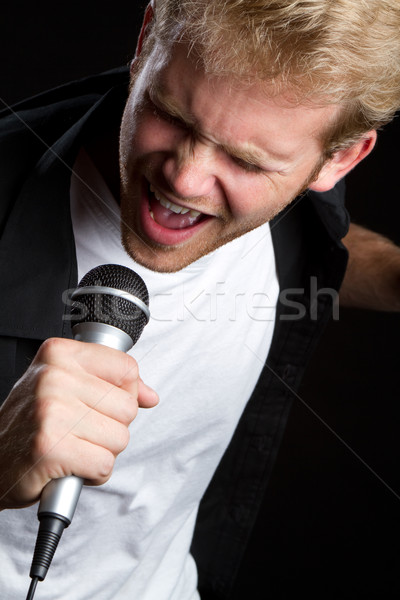 Man Singing Stock photo © keeweeboy
