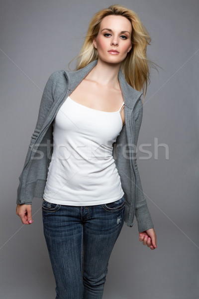 Jeans Sweater Woman Stock photo © keeweeboy