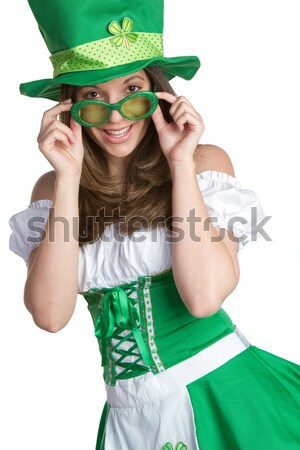 St Patrick's Day Girl Stock photo © keeweeboy
