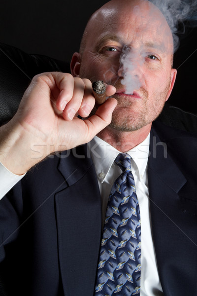 Man smoking cigar Stock photo © keeweeboy