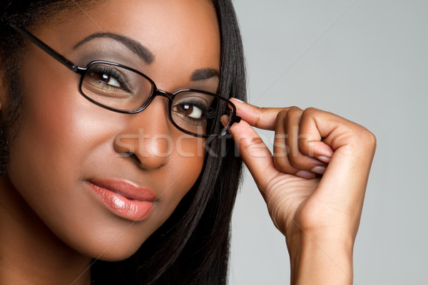 Woman Wearing Glasses Stock photo © keeweeboy