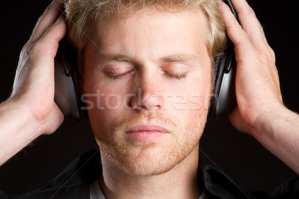 Headphones Music Boy Stock photo © keeweeboy