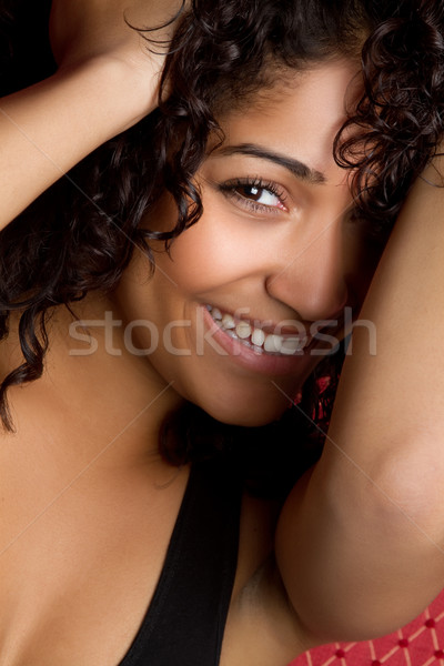 Playful Black Girl Stock photo © keeweeboy