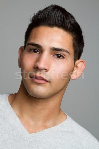 Ispanico uomo giovani primo piano faccia sfondo Foto d'archivio © keeweeboy