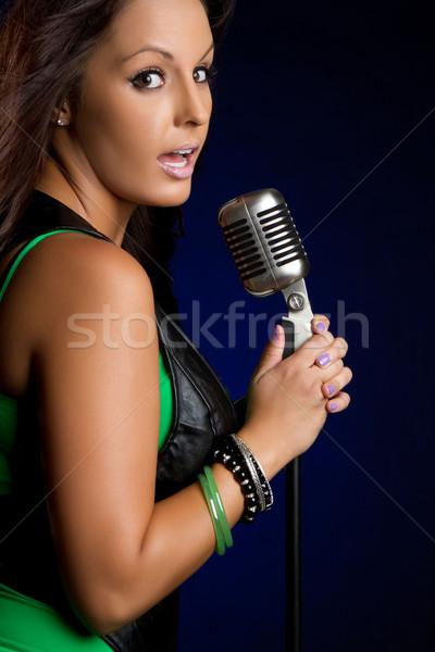 Singing Woman Stock photo © keeweeboy