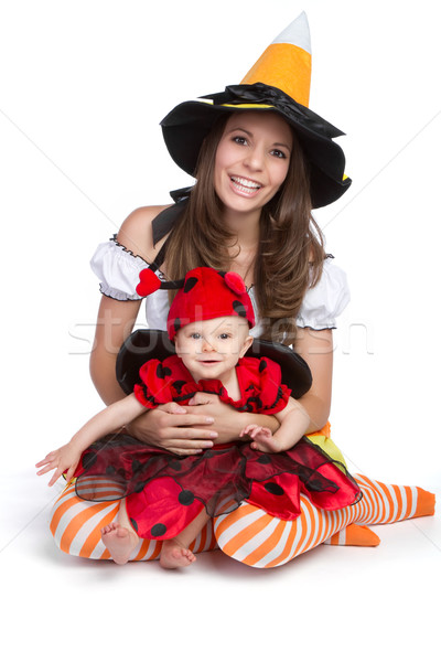 Mother Daughter Halloween Stock photo © keeweeboy