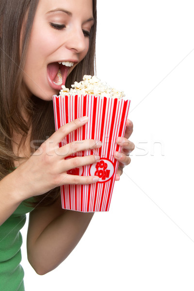 Popcorn Girl Stock photo © keeweeboy