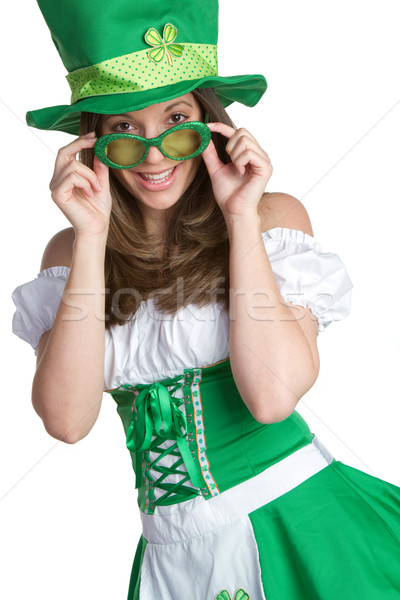 St Patricks Day Woman Stock photo © keeweeboy