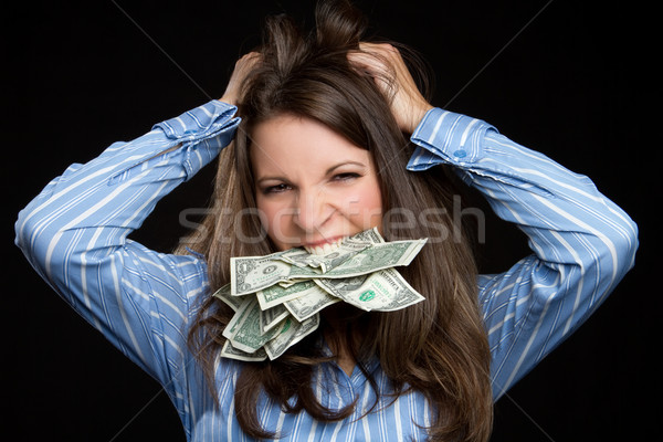 Frustrated Money Woman Stock photo © keeweeboy