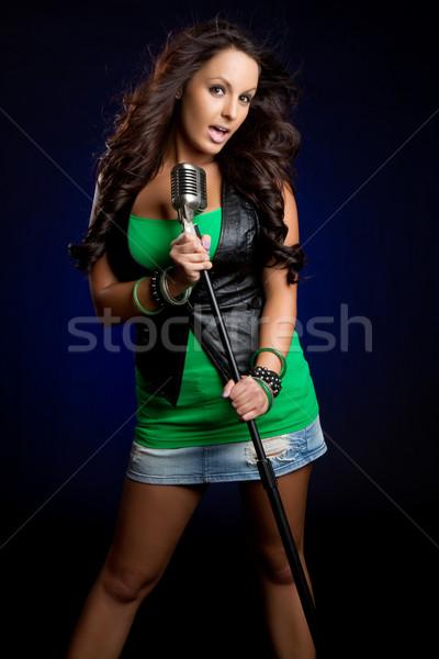 Female Singer Stock photo © keeweeboy