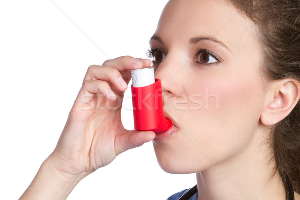 Asthma Inhaler Girl Stock photo © keeweeboy