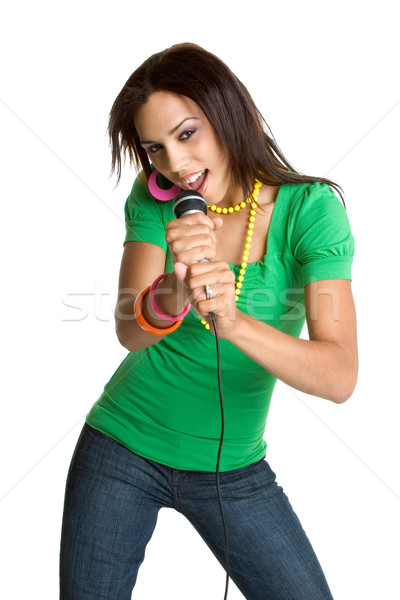 Teen Girl Singing Stock photo © keeweeboy