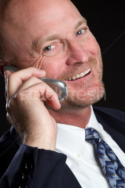 Telefono uomo sorridere cellulare business executive Foto d'archivio © keeweeboy