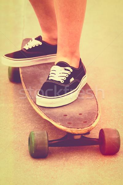 Vintage Filter Skateboard Stock photo © keeweeboy