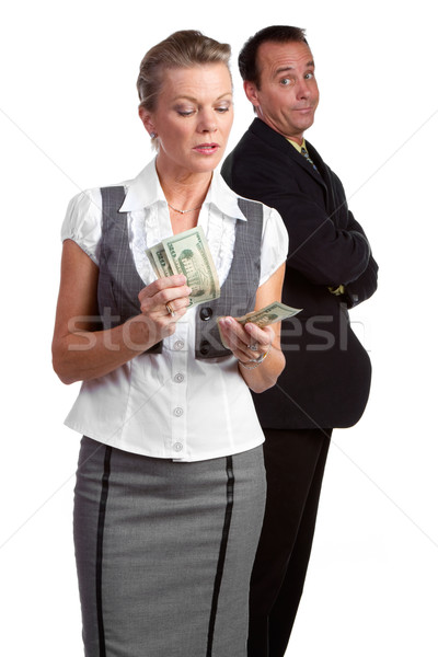 Businesswoman Counting Money Stock photo © keeweeboy