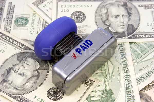 Pagado sello dinero papel Estados Unidos Foto stock © keeweeboy