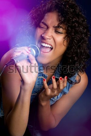 African American Singer Stock photo © keeweeboy
