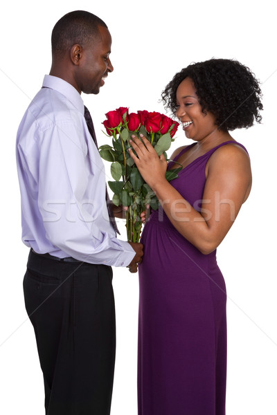 Man Giving Roses Stock photo © keeweeboy