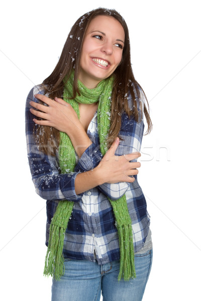 Cold Winter Girl Stock photo © keeweeboy