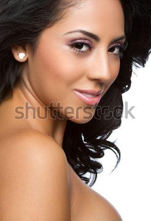 African american donna bella ragazza faccia Foto d'archivio © keeweeboy