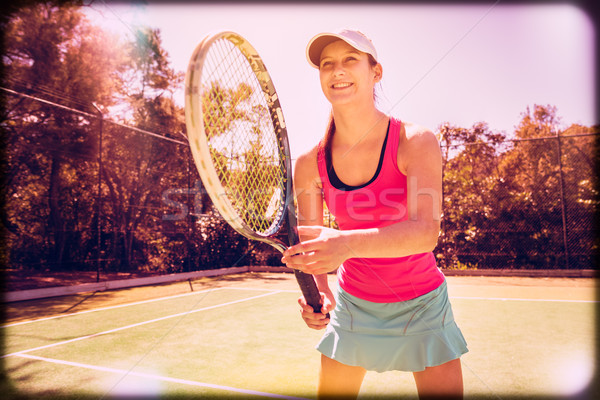 Beautiful Tennis Player Stock photo © keeweeboy