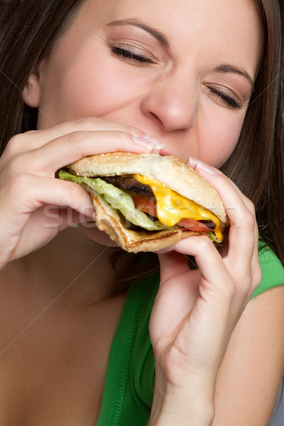Woman Eating Food Stock photo © keeweeboy