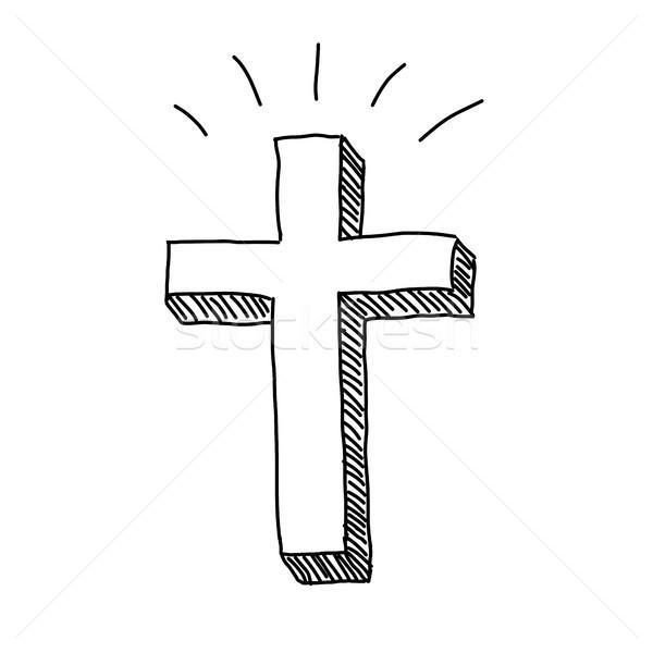 Christian Cross Doodle Stock photo © keeweeboy