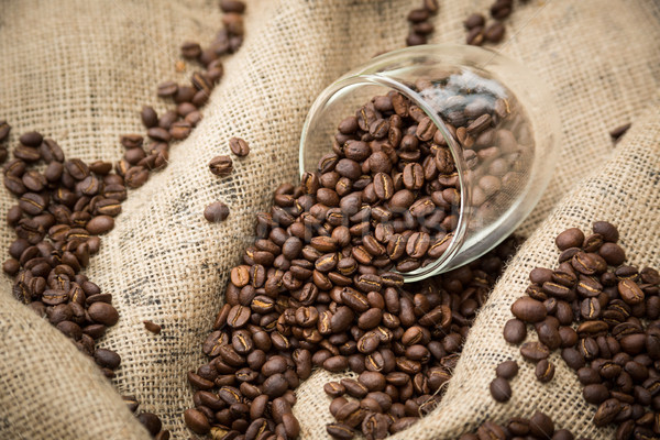 Coffee Beans in Glass Stock photo © keeweeboy