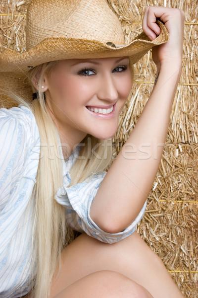 Chica de campo bastante sonriendo cara mujeres feliz Foto stock © keeweeboy