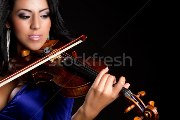 Woman Playing Violin Stock photo © keeweeboy