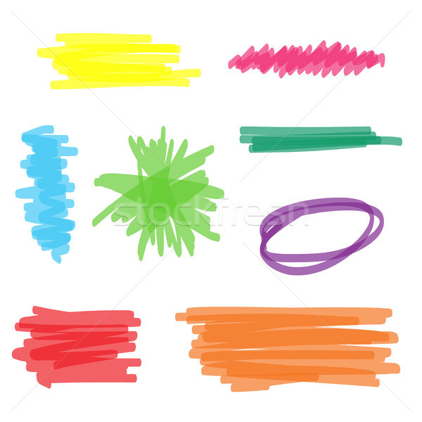 Colorful Highlighter Marker Set Stock photo © keeweeboy