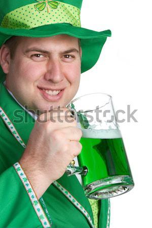 ирландский девушки пива красивой зеленый Сток-фото © keeweeboy
